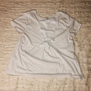 Banana Republic White Tee w/ bows on the back L